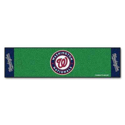 MLB Washington Nationals 1 ft. 6 in. x 6 ft. Indoor 1-Hole Golf Practice Putting Green