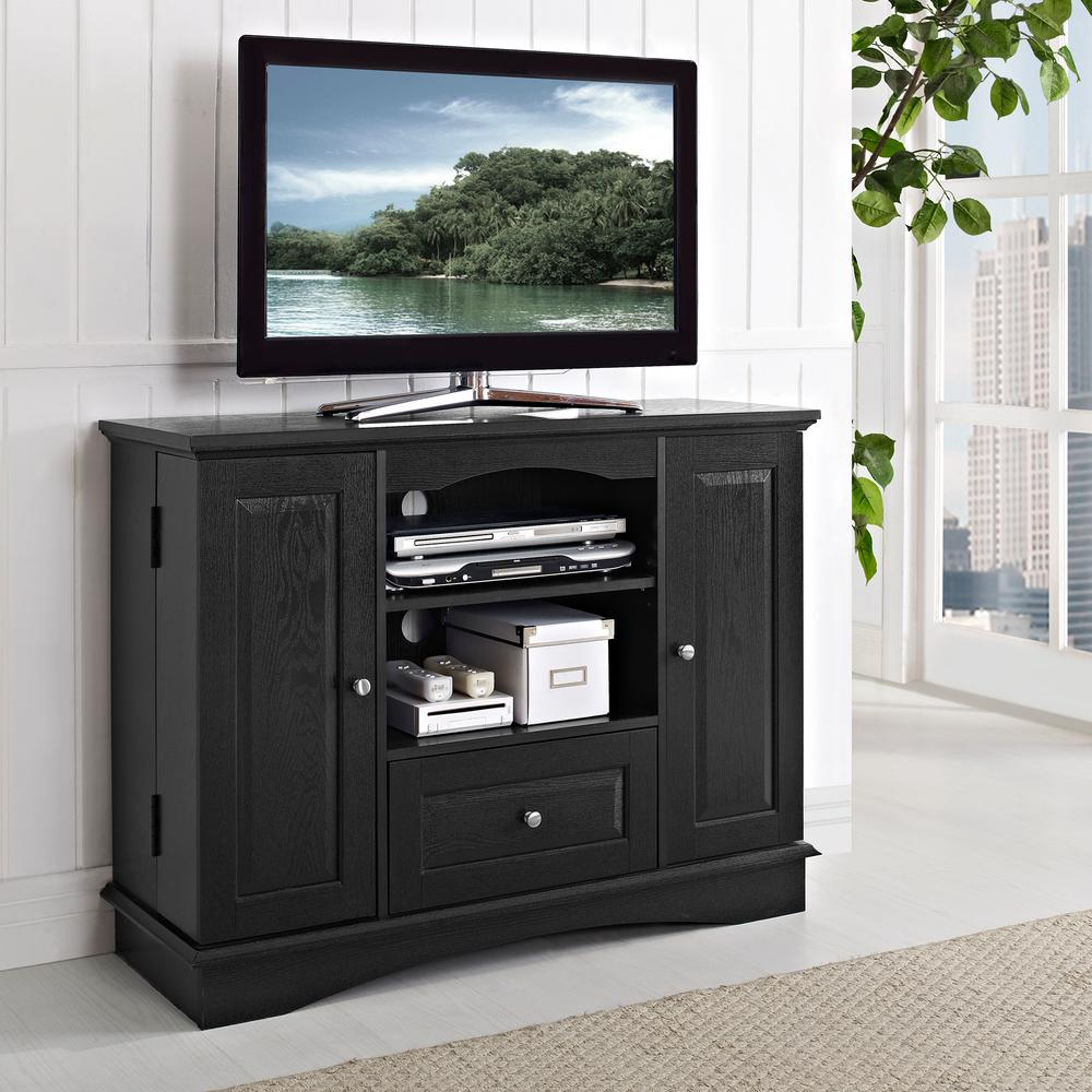 Walker Edison Furniture Company Laguna Black Entertainment Center