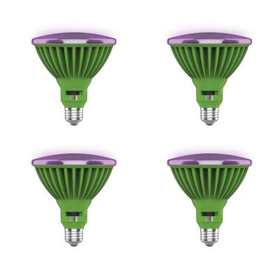 30-Watt PAR38 Selectable Spectrum for Seeding, Growing Blooming Indoor Greenhouse E26 Plant Grow LED Light Bulb (4-Pack)