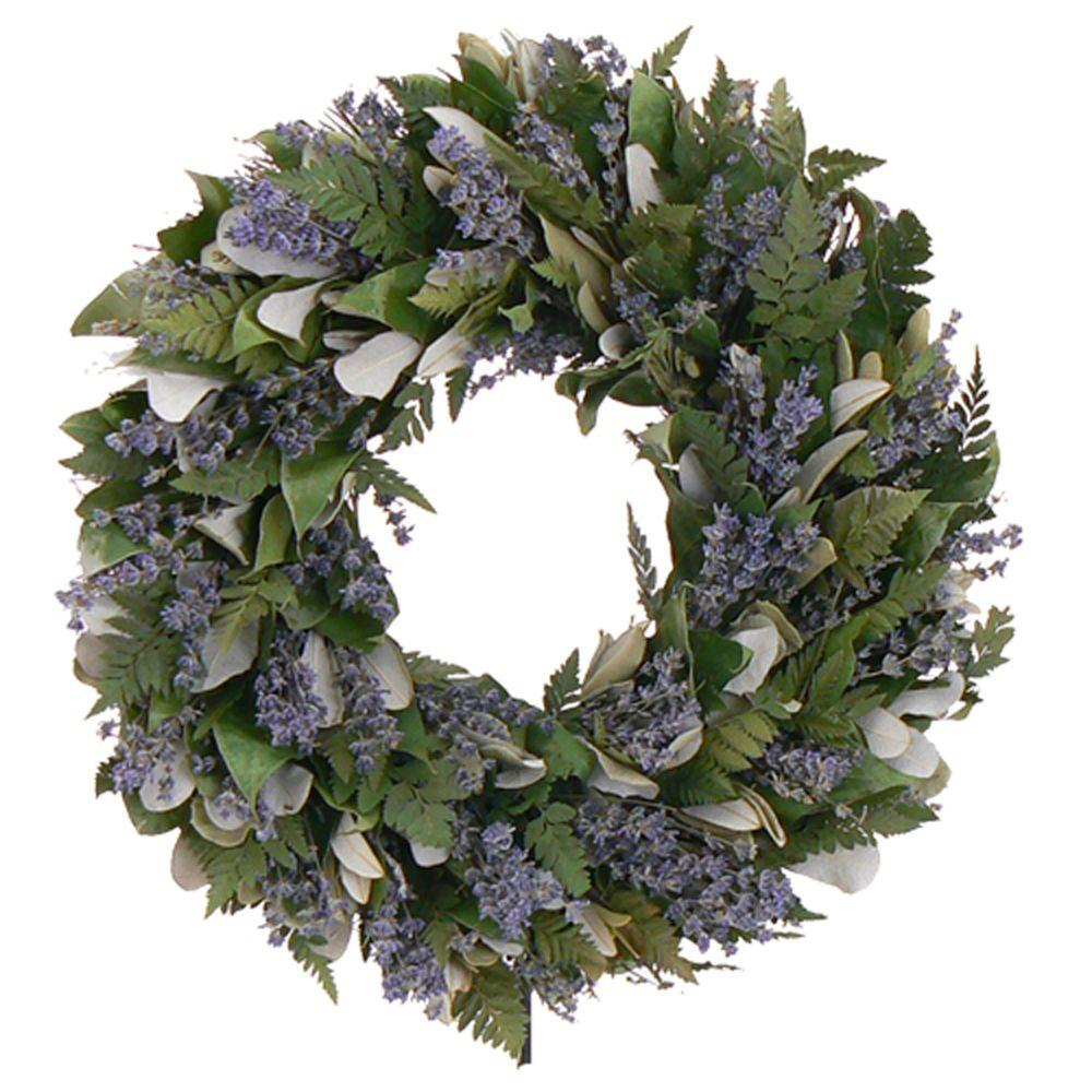 The Christmas Tree Company Enchanted Garden 16 in. Dried Floral Wreath-DISCONTINUED