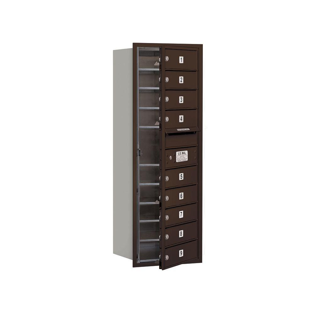 3700 Series 41 in. 11 Door High Unit Bronze Private Front