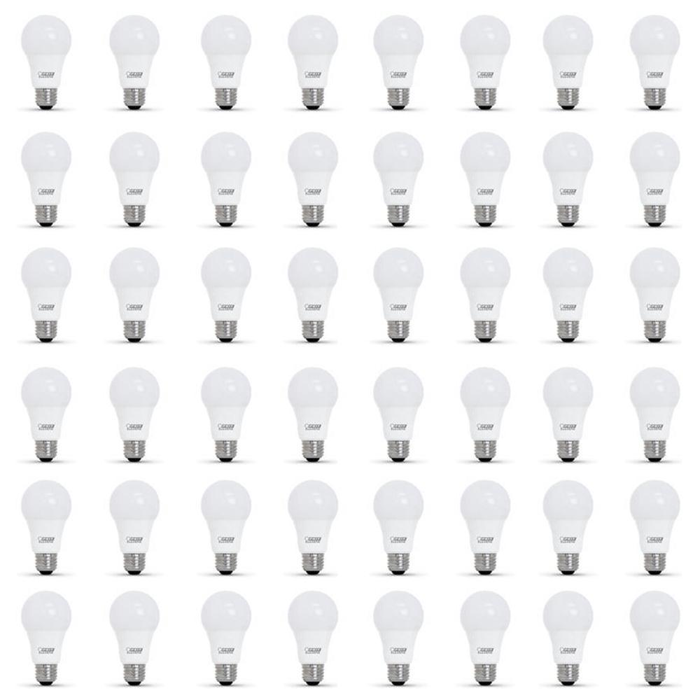 40-Watt Equivalent A19 Dimmable CEC Title 24 Compliant LED ENERGY STAR 90+ CRI Light Bulb, Soft White (48-Pack)
