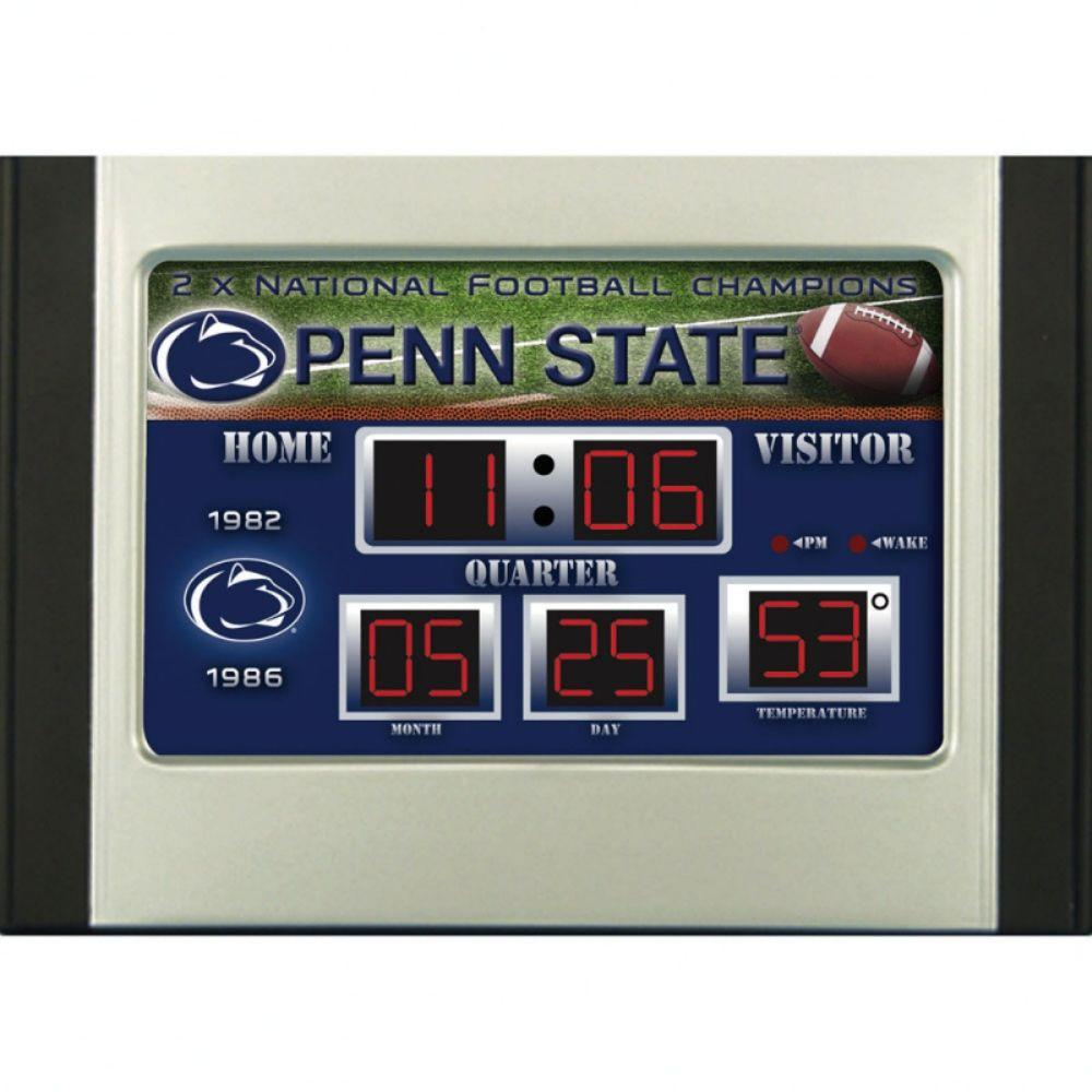 null Penn State University 6.5 in. x 9 in. Scoreboard Alarm Clock with Temperature