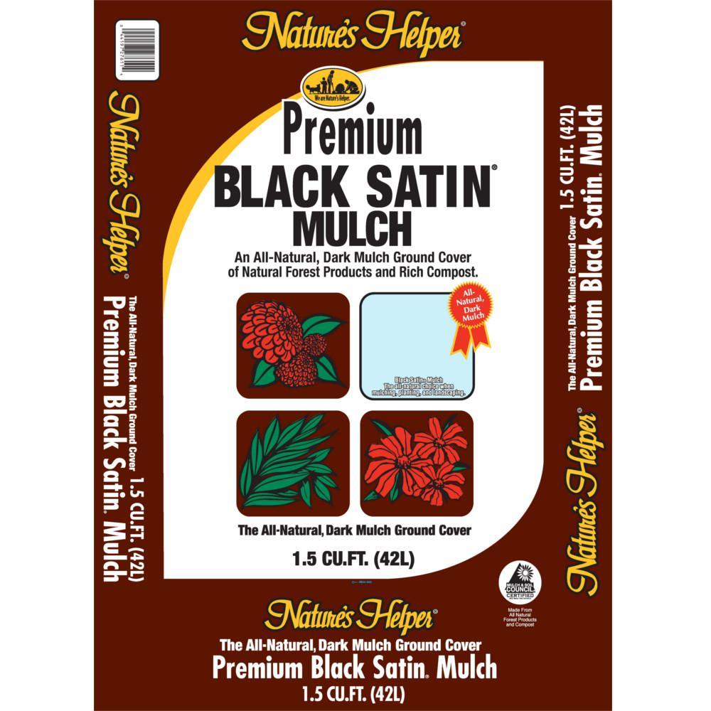 1 5 Cu Ft Black Satin Mulch 745730 The Home Depot