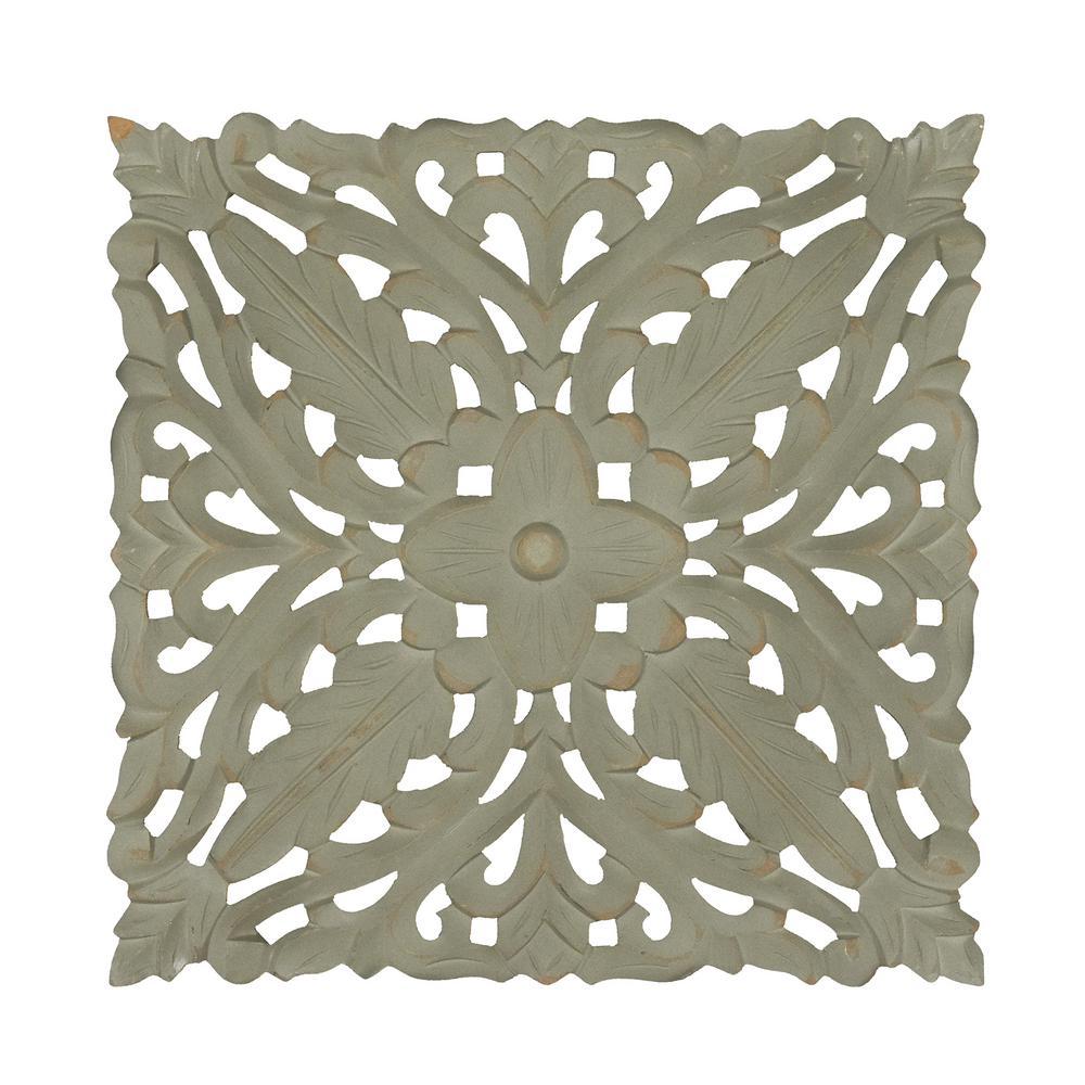 Fetco Maverick Grey Carved Wooden Medallion Wall Art X7408366 The
