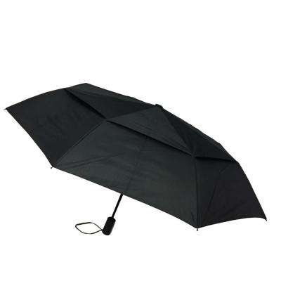 44 in. Black Arc Vented Mini Auto Open Close Umbrella