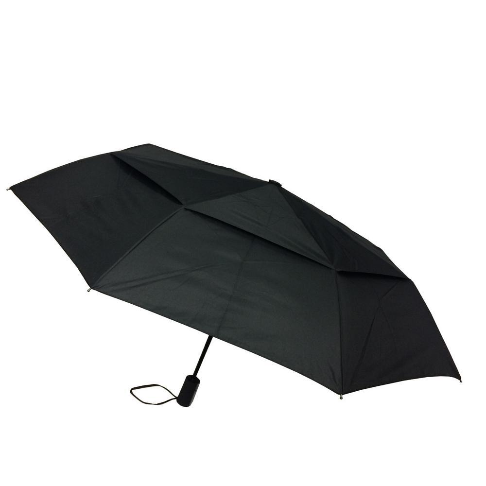 44 in. Black Arc Vented Mini Auto Open Close Umbrella