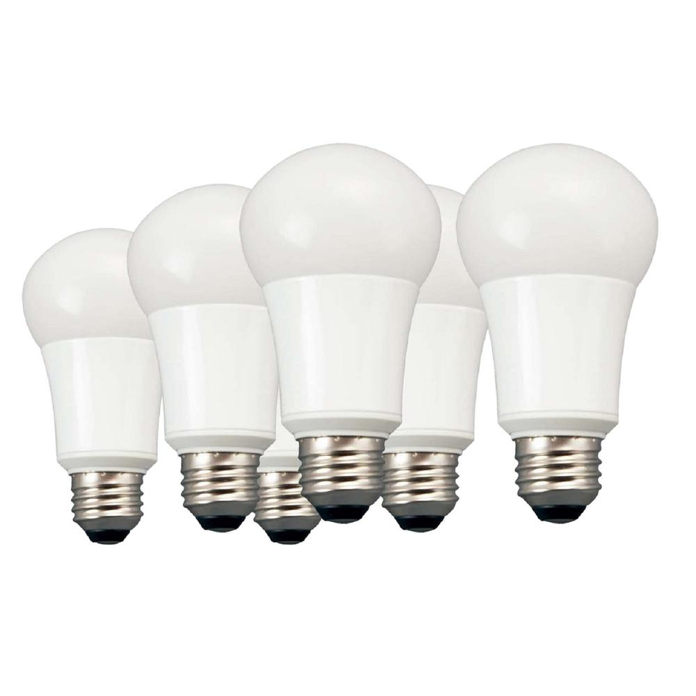 TCP 60W Equivalent Daylight A19 Non Dimmable LED Light Bulb (6 ...