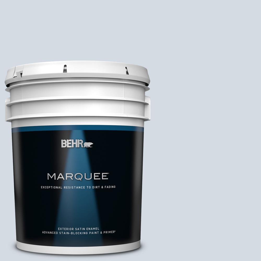 Behr Marquee 5 Gal 610e 3 Drowsy Lavender Satin Enamel Exterior Paint And Primer In One 945005 The Home Depot