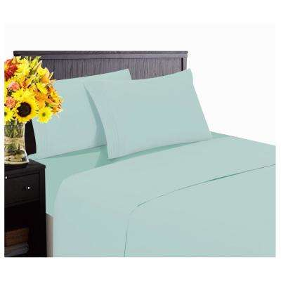 Hotel Collection 1800 6-Piece Spa Blue Cotton/Polyester King Sheet Set