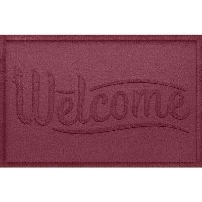 Simple Welcome Bordeaux 24x36 Polypropylene Door Mat