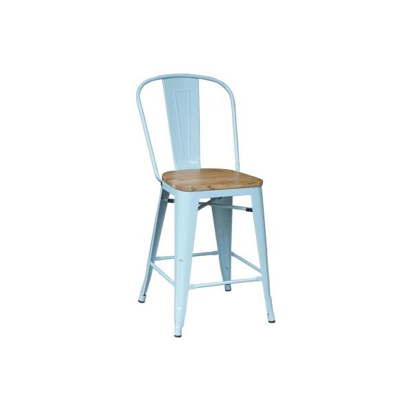 24 in. Seafoam Backed Counter Stool (Set of 2)