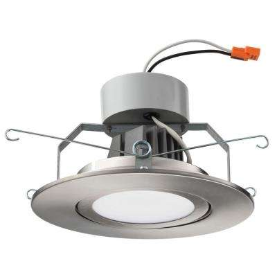 6 in. Brushed Nickel Recessed Gimbal LED Module (3000K)