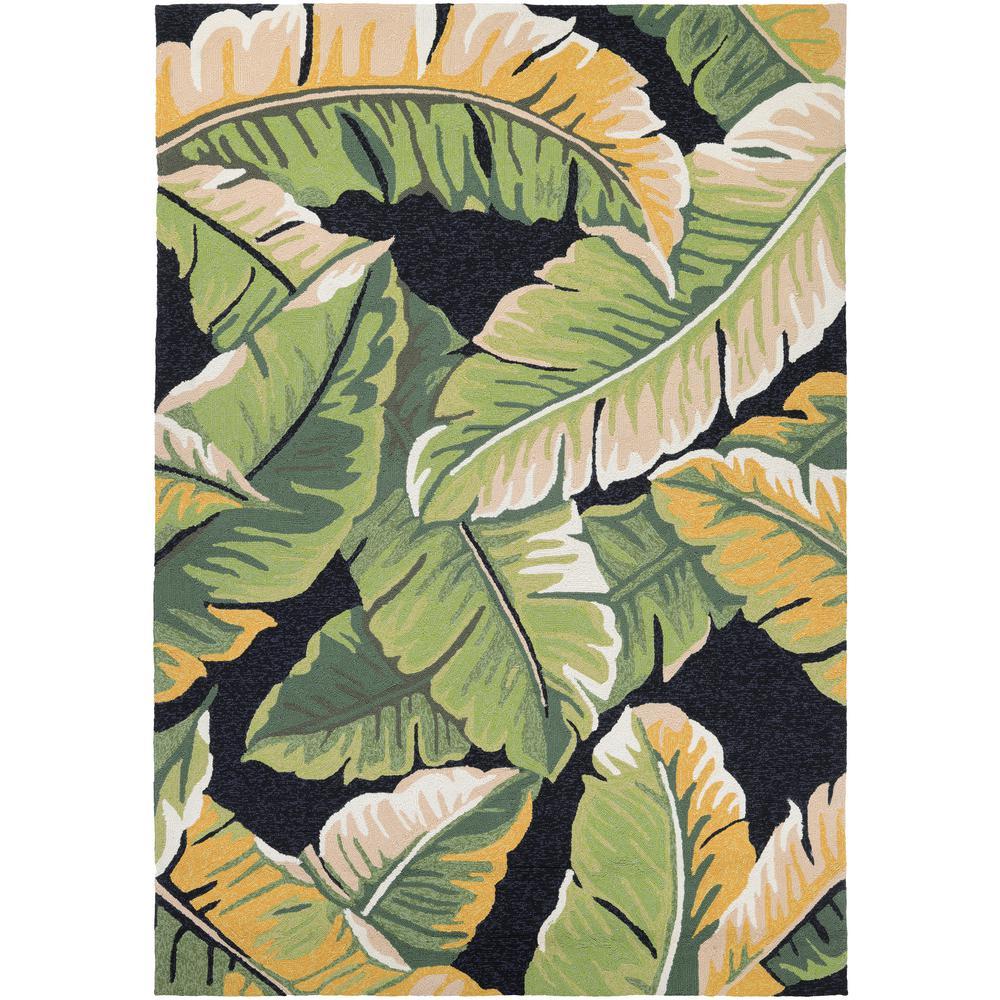 Covington Rainforest Forest Green-Black 6 ft. x 8 ft. Indoor/Outdoor Area Rug