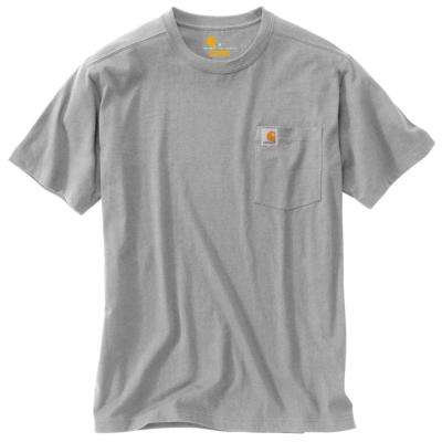 Men's Regular XXX Large Heather Gray Cotton/Polyester Short-Sleeve T-Shirt