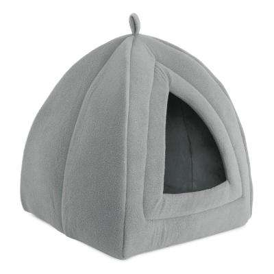 Small Grey Igloo Cat Bed