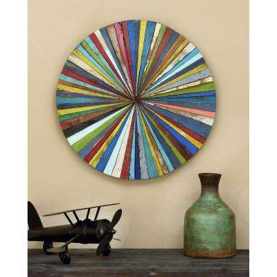 Abstract 25 in. Wood Wall Plaque
