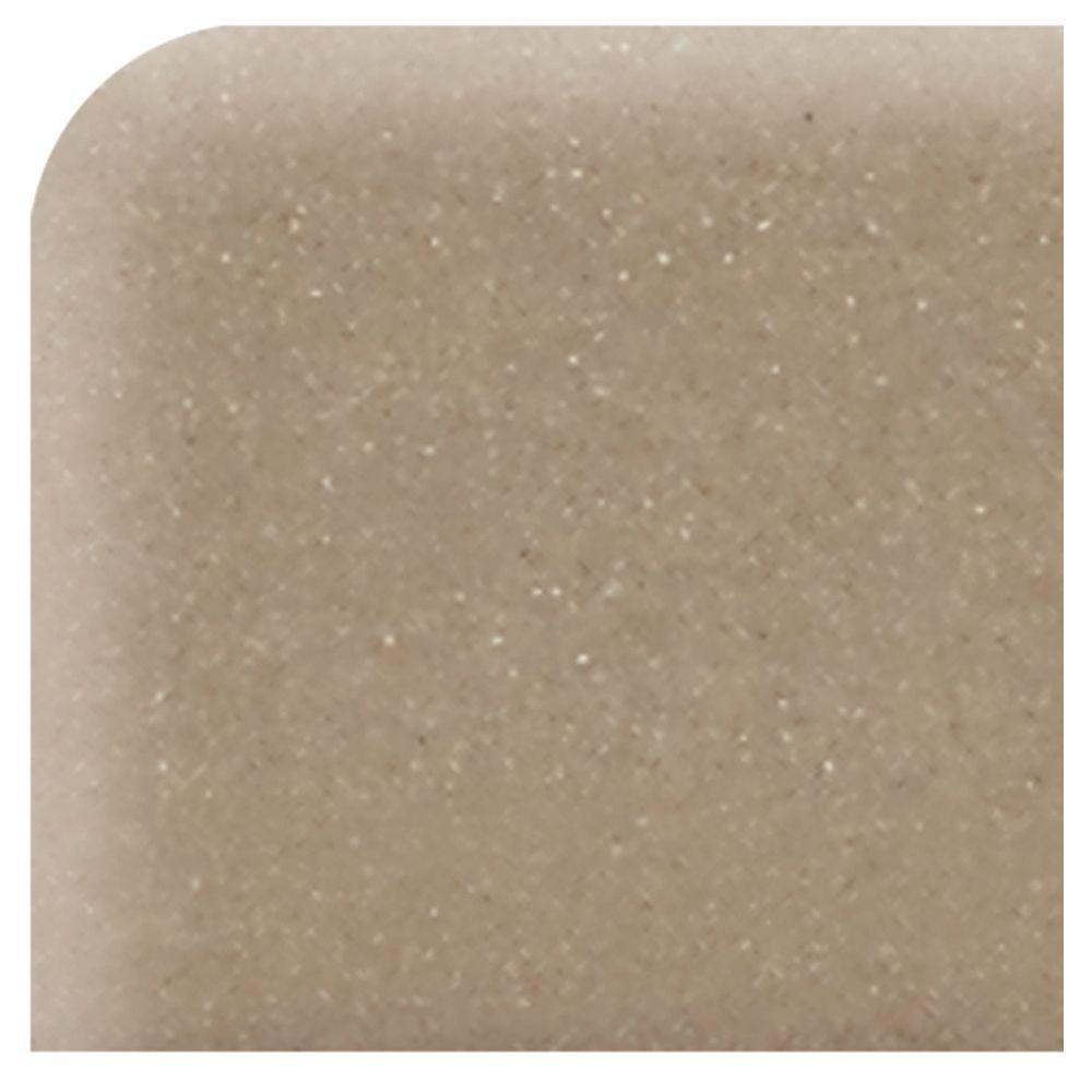 Daltile Modern Dimensions Gloss Elemental Tan 4-1/4 in. x 4-1/4 in. Ceramic Bullnose Corner Wall Tile