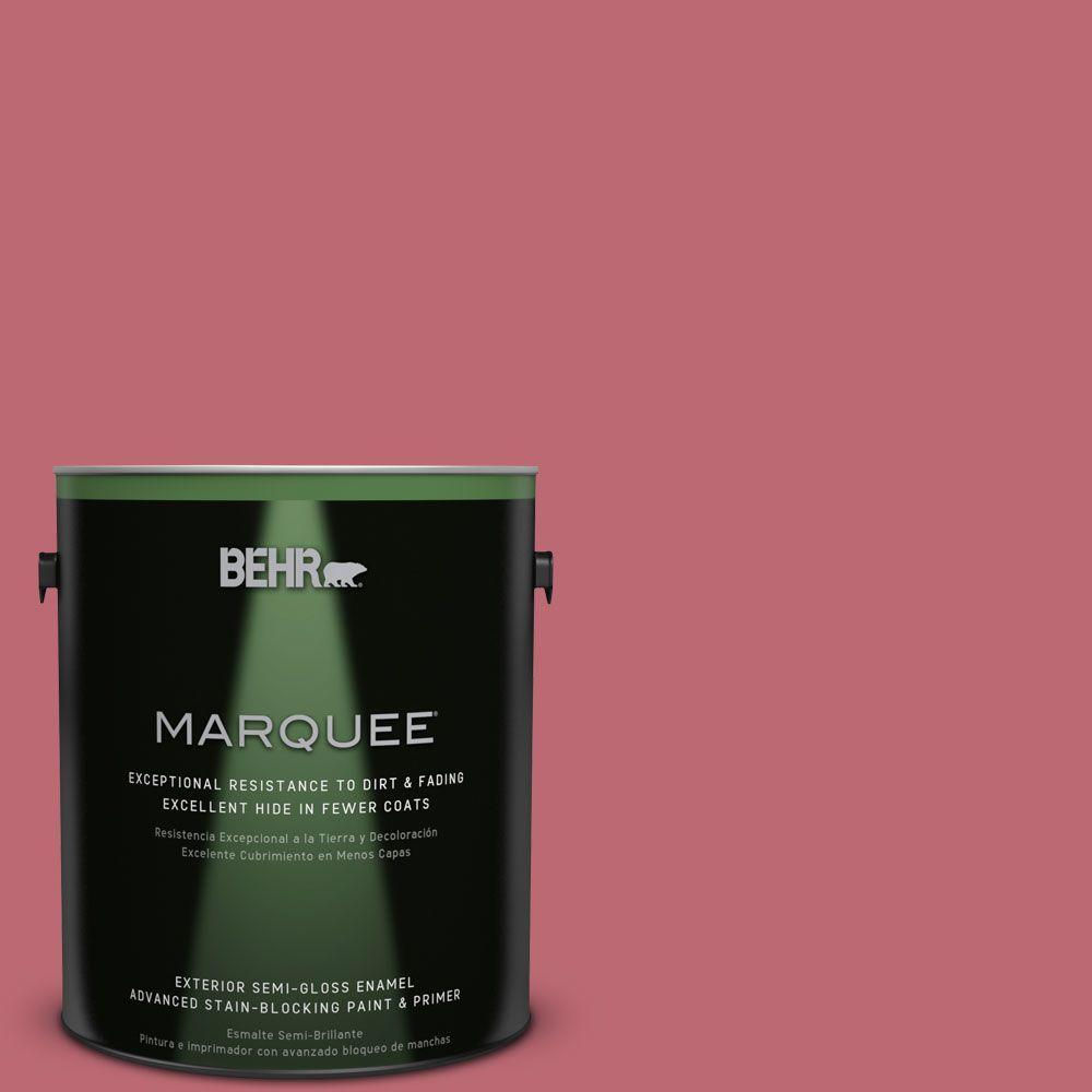 1-gal. #M140-5 Cherry Fizz Semi-Gloss Enamel Exterior Paint