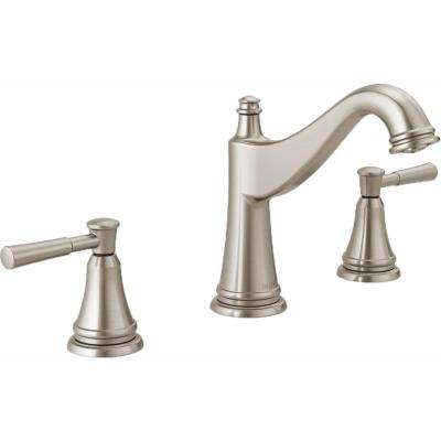Mylan 8 in. Widespread 2-Handle Bathroom Faucet in SpotShield Brushed Nickel
