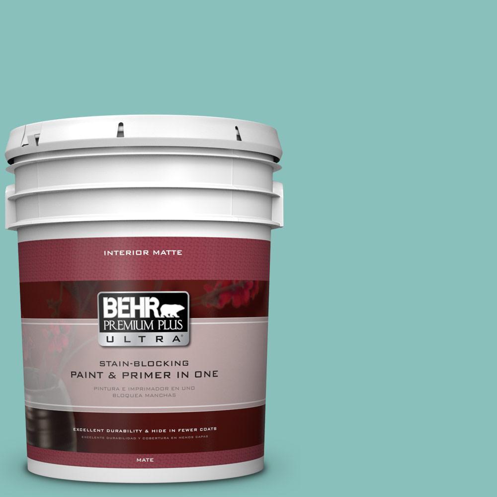 BEHR Premium Plus Ultra 5 gal. #M450-4 Undine Matte Interior Paint