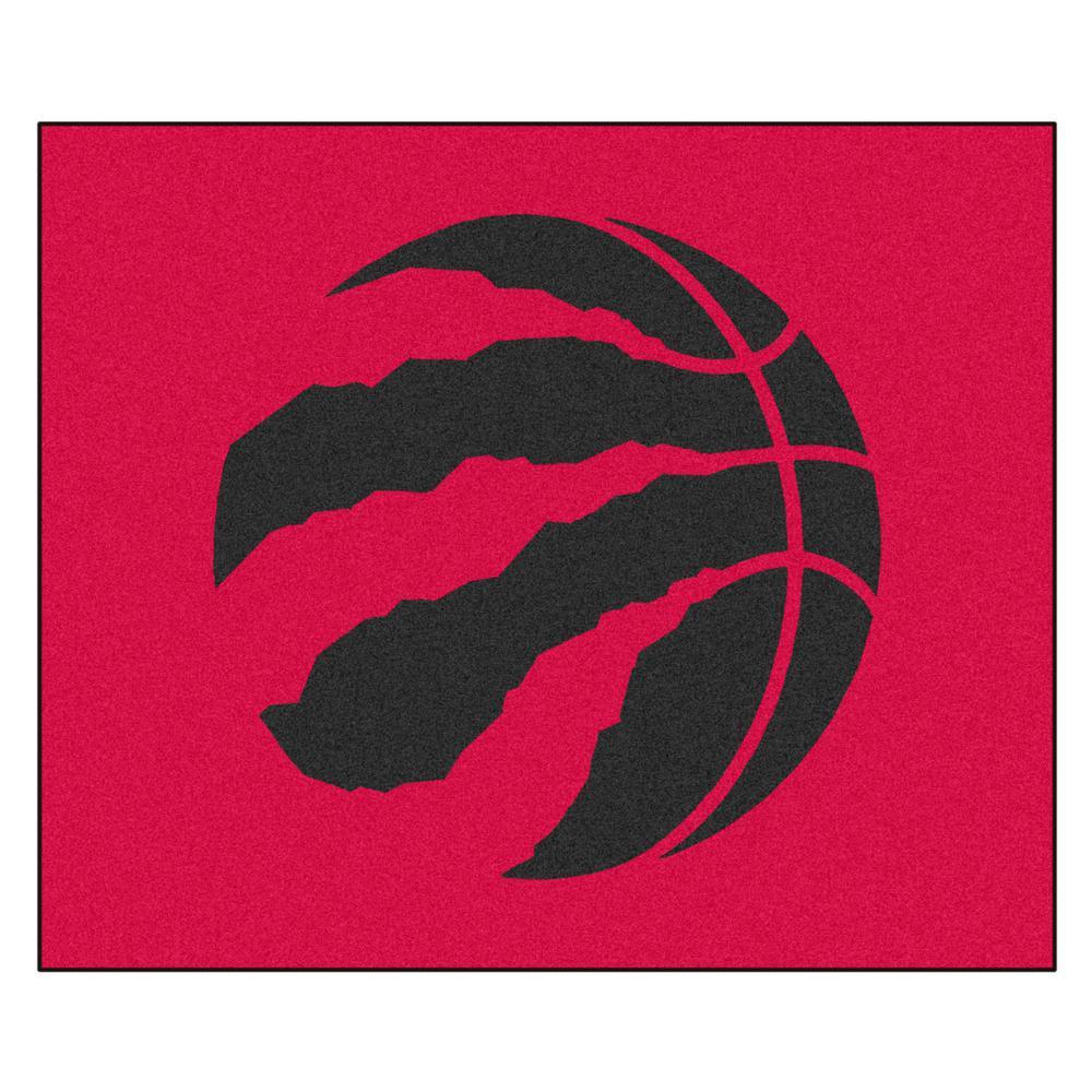 NBA Toronto Raptors Red 6 ft. x 5 ft. Indoor/Outdoor Tailgater Rug