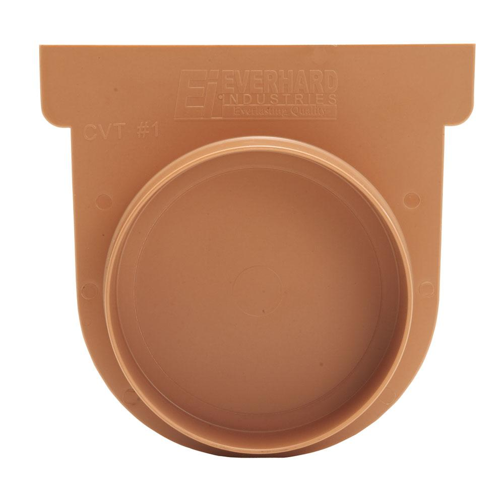 Us Trench Drain Easy Series Terracotta End Cap And 3 In French Design Diagram Yard Drainage Landscape Pipe Adaptor For