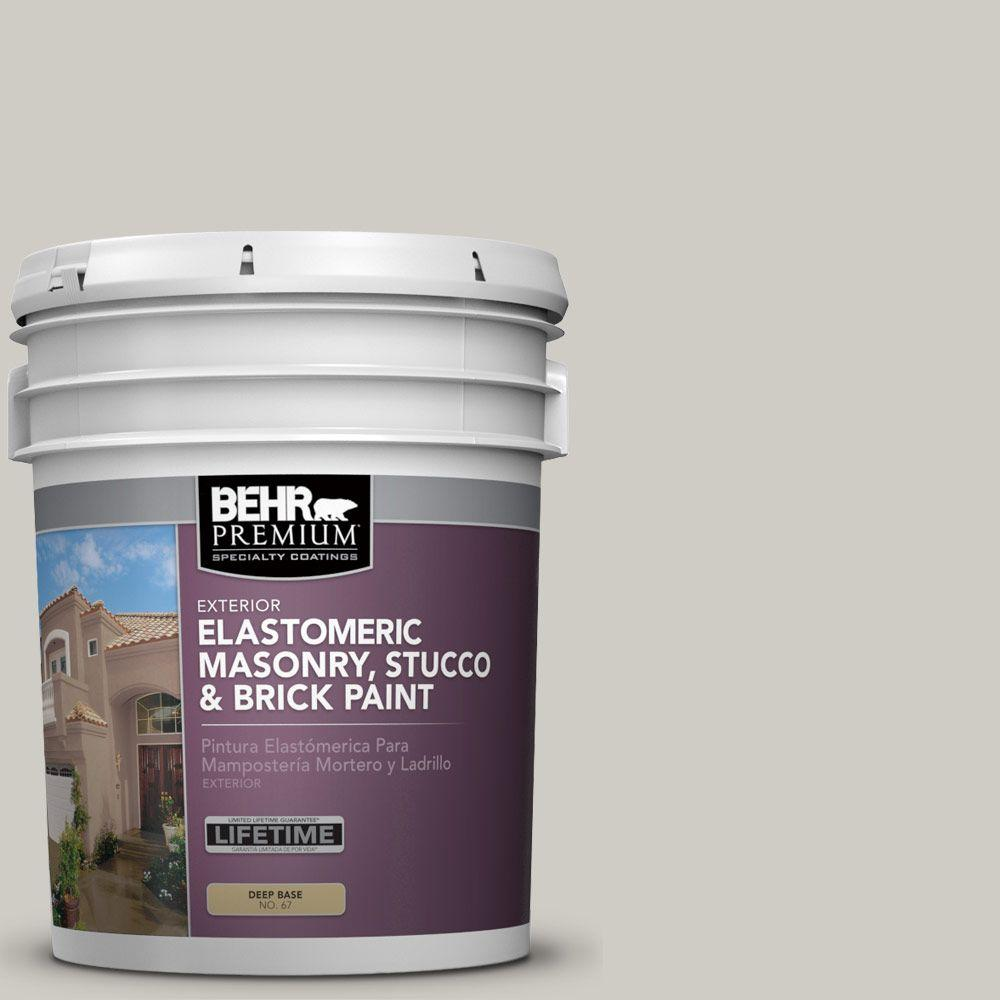 BEHR PREMIUM 5 gal. #MS-83 Agate Elastomeric Masonry, Stucco and Brick Exterior Paint
