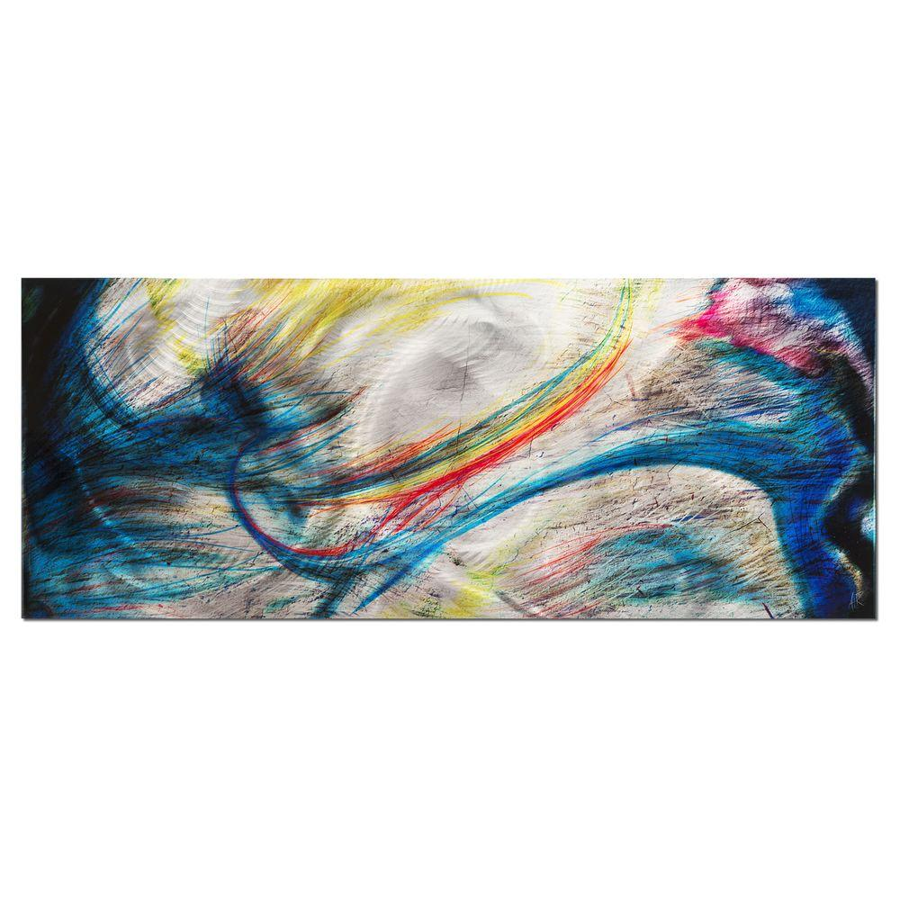 Brevium 19 in. x 48 in. Grace and Virtue Metal Wall