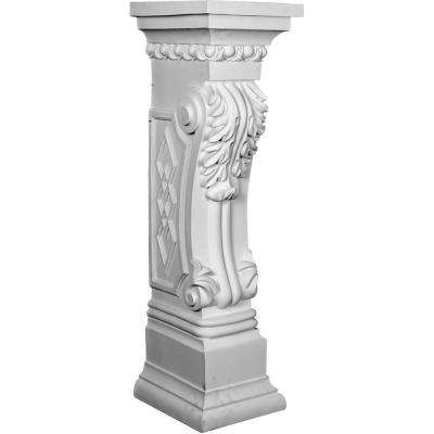11-1/8 in. x 9-7/8 in. x 34-5/8 in. Polyurethane Scroll Leaf Surround Moulding