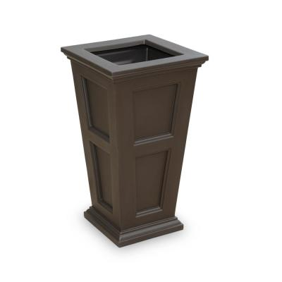 Self-Watering Fairfield Tall Espresso Polyethylene Planter