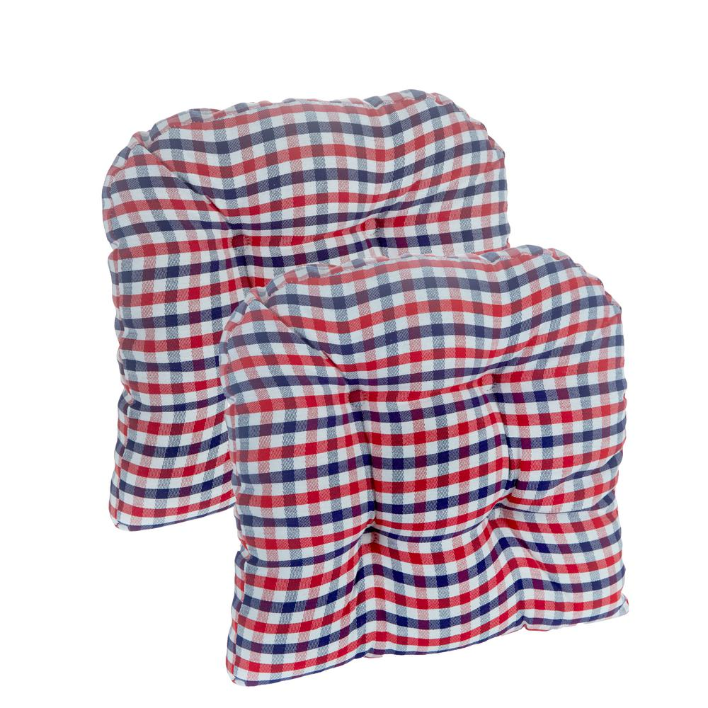 Gripper Gingham Red White Blue 15 X