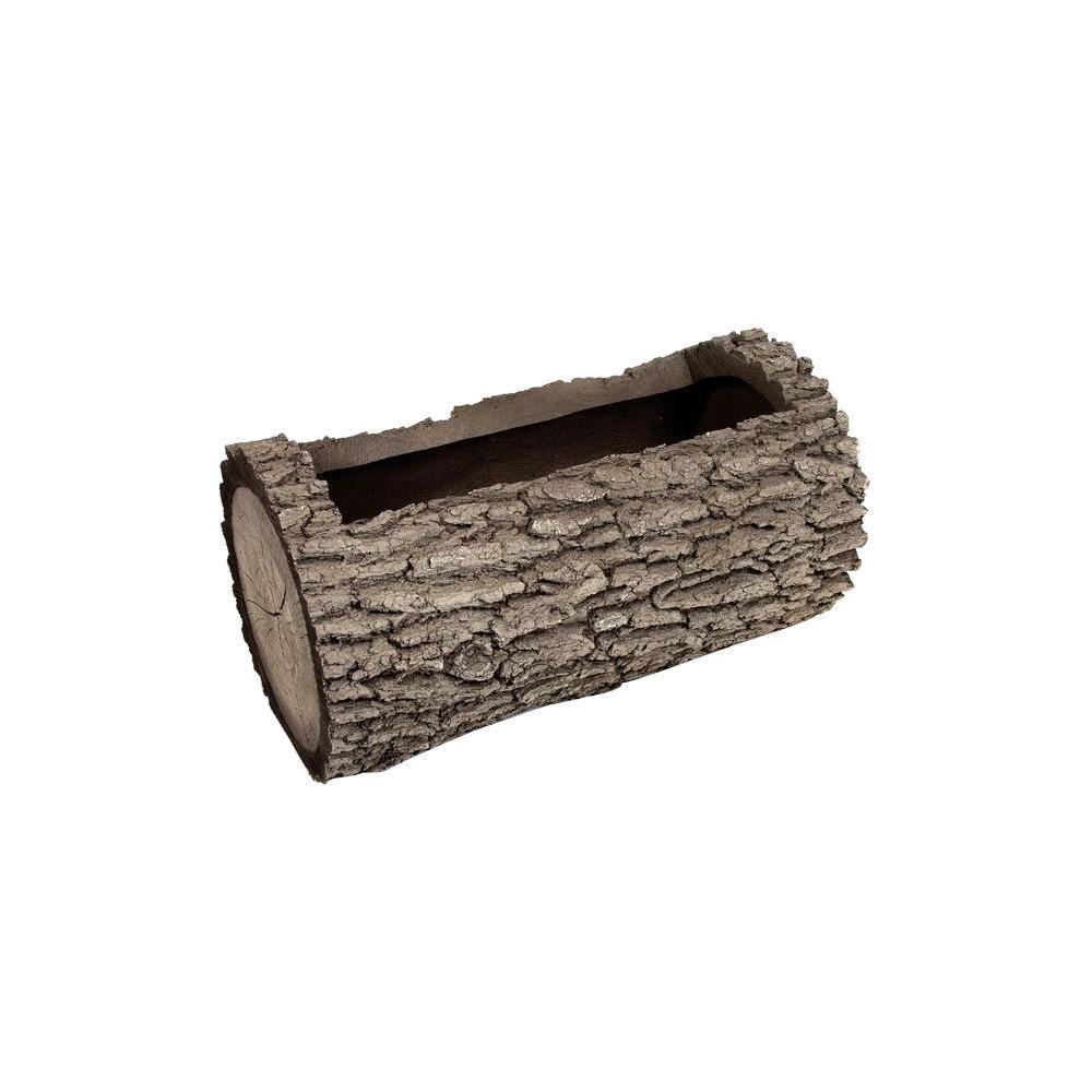 Horizontal 6 in. H Oak Bark Color Polyurethane Planter