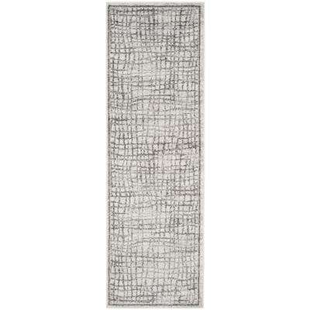 Adirondack Silver/Ivory 3 ft. x 6 ft. Runner Rug