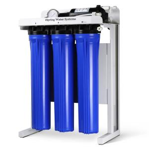 Click here to buy ISPRING Workhorse 300 GPD Commercial Grade Reverse Osmosis Water Filtration System w/ Booster Pump and Oversized Pre RO Filters by ISPRING.
