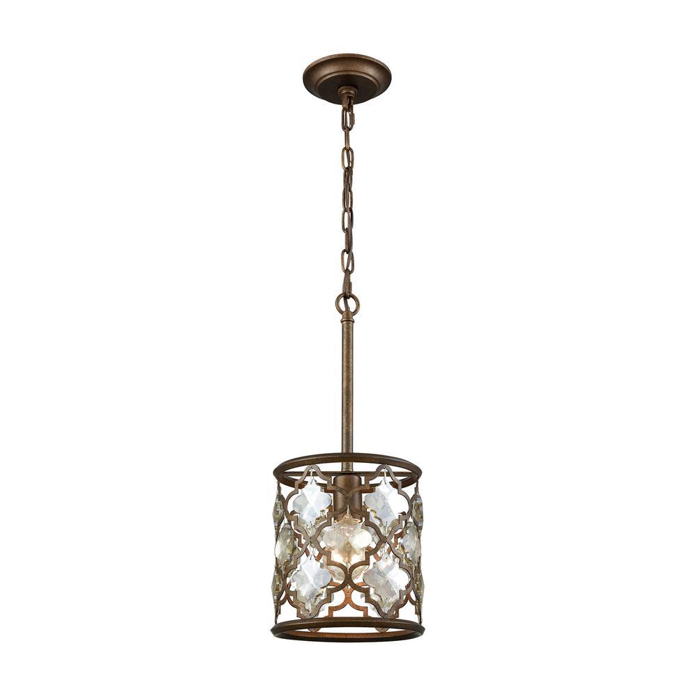 Titan Lighting Armand 1-Light Weathered Bronze With