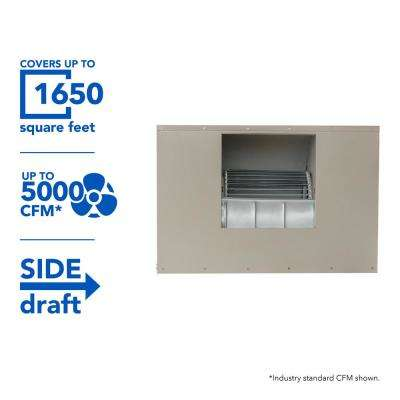 5000 CFM Side-Draft Wall/Roof 8 in. Media Evaporative Cooler for 1650 sq. ft. (Motor Not Included)