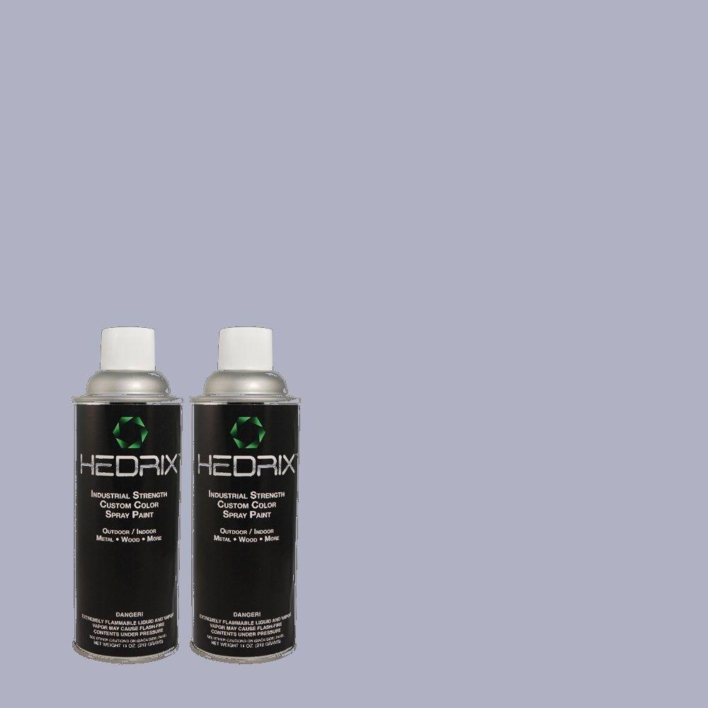Hedrix 11 oz. Match of 610D-4 Bellflower Semi-Gloss Custom Spray Paint (2-Pack)