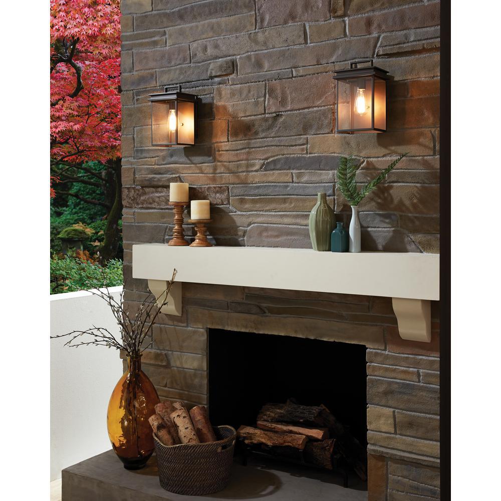 Glenview 1-Light Antique Bronze Outdoor Hanging Pendant Lantern