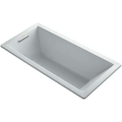 Underscore 5.5 ft. Reversible Drain Soaking Tub in Ice Grey with Bask Heated Surface