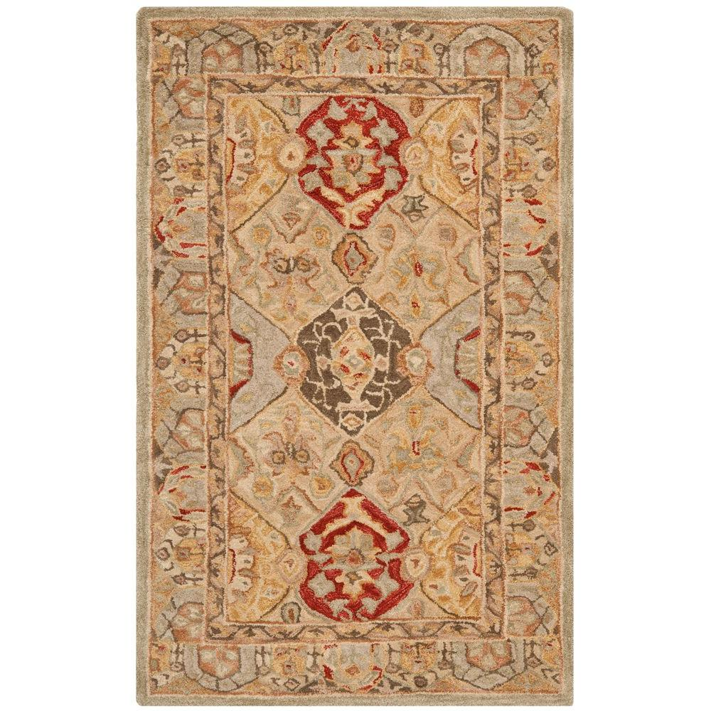 Anatolia Beige/Multi 3 ft. x 5 ft. Area Rug