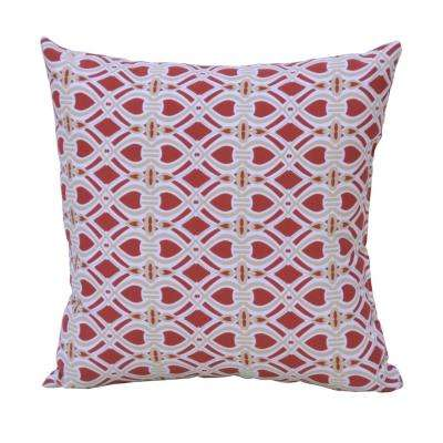 Chili Trellis Square Outdoor Throw Pillow