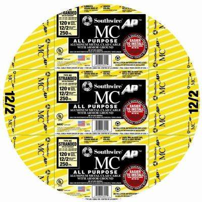 12/2 x 250 ft. Stranded AL MCAP (Metal Clad) Armored Cable