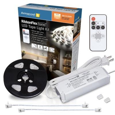 RibbonFlex Home 16 ft. Dim to Warm LED Tape Light Kit with Remote