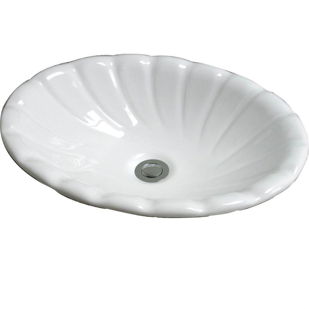 Pegasus Corona Drop-In Bathroom Sink in White by Pegasus