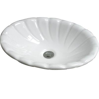 Corona Drop-In Bathroom Sink in White