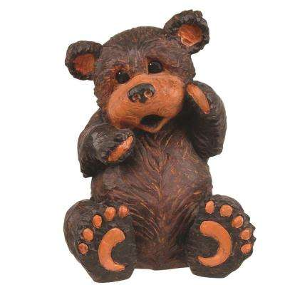 16-1/2 in. Sitting Bear Home and Garden Statue