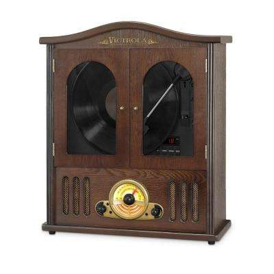 Wall Mounted Record Player with CD and Boombox