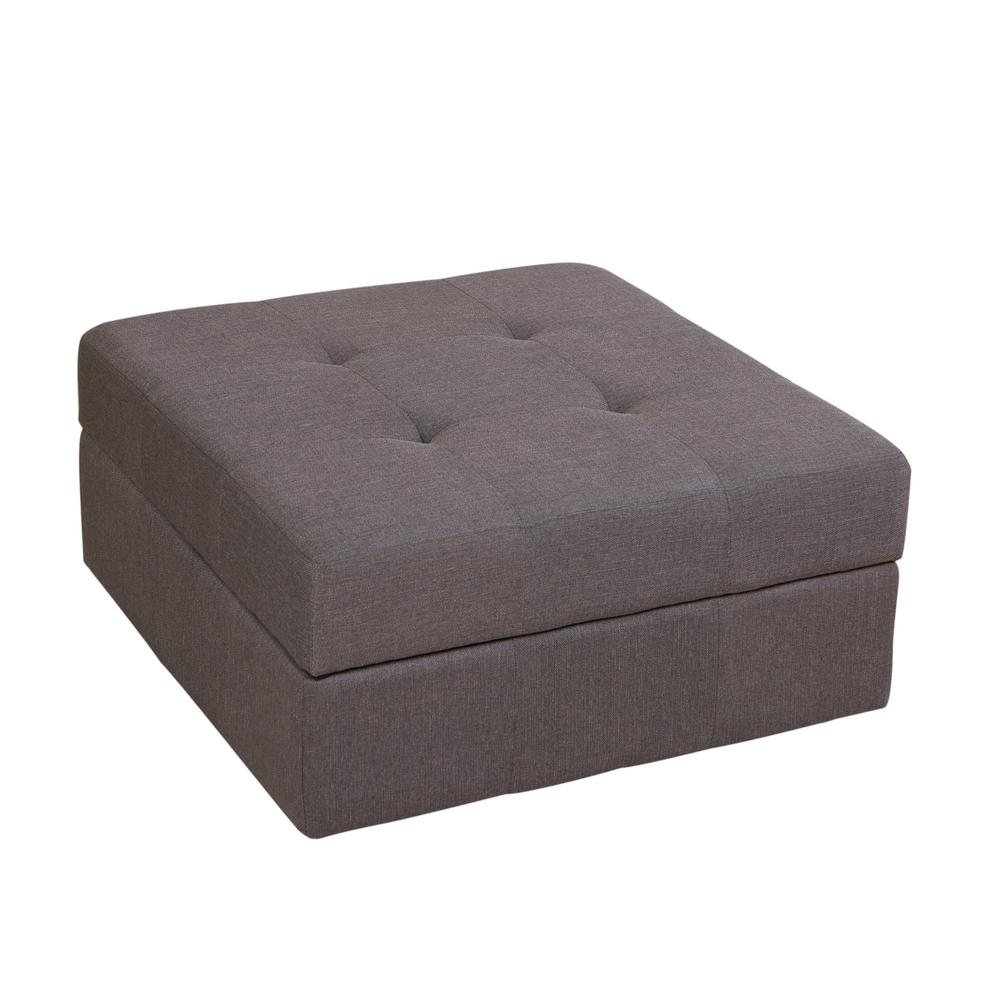 Swell Noble House Chatsworth Brown Grey Fabric Storage Ottoman 836 Gmtry Best Dining Table And Chair Ideas Images Gmtryco