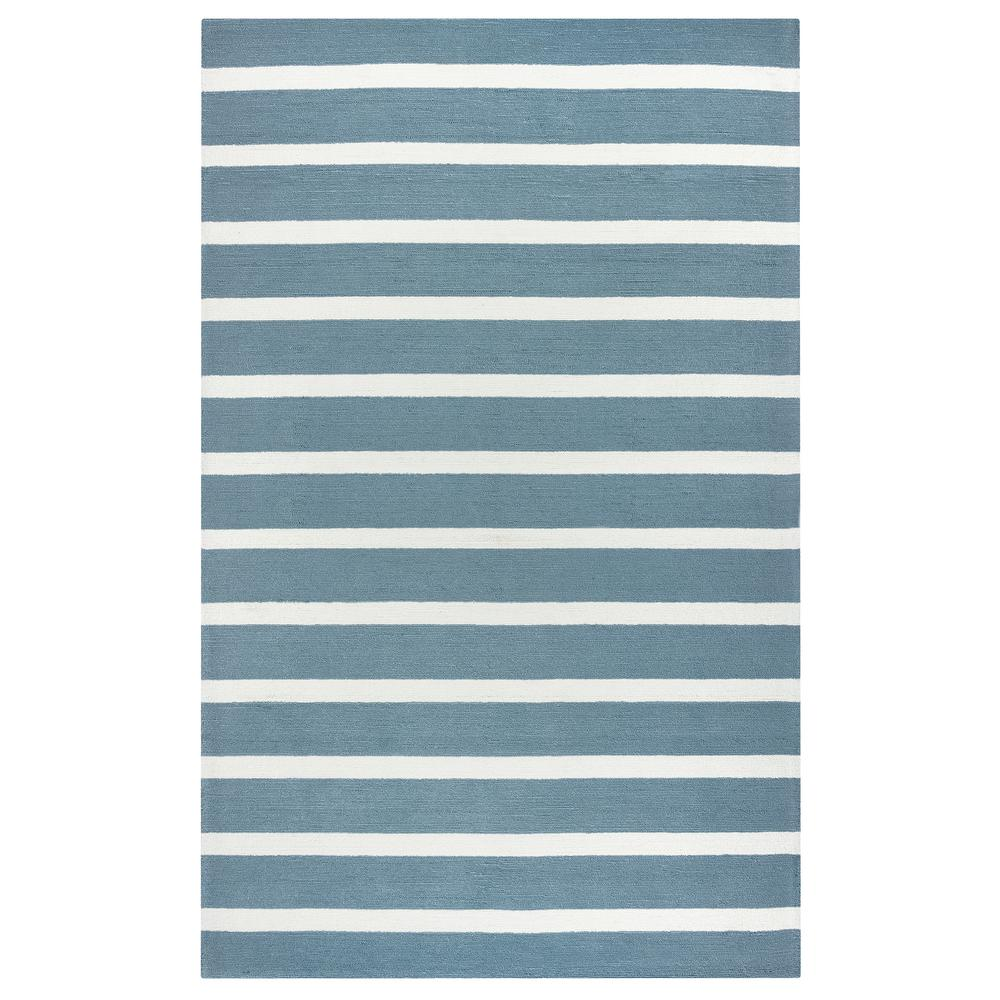 Rizzy Rugs Azzura Hill Gray Striped 5 ft. x 8 ft. Indoor/...